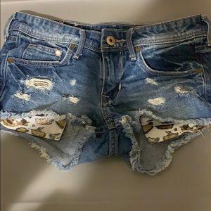 Denim Shorts .